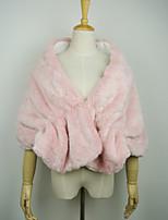 Fur Wraps Capelets Faux Fur Blushing Pink