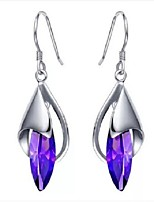 Flammable Volcano 925 Silver Purple Crystal Pendant Eardrop SYE0070A Teamed