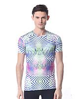 yokaland gimnasio elástica camiseta para hombre suave con la impresión