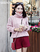 Women's Casual/Cute Stretchy Thick Long Sleeve Pullover (Knitwear) SF7B24