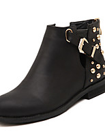 Women's Shoes  Low Heel Fashion Boots/Round Toe Boots Casual Black/Brown