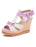 Women's Shoes  Wedge Heel Peep Toe Sandals Dress With Bowknot More Colors Available