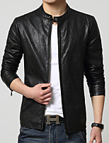 2015 spring and autumn a men's leather Metrosexual Korean Short Jacket slim g locomotive