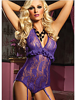 Women Lace Lingerie/Matching Bralettes/Ultra Sexy Nightwear , Cotton Blends/Lace/Nylon/Polyester
