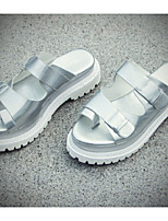 Women's Shoes  Kitten Heel Mary Creepers Sandals Outdoor/Casual White/Silver