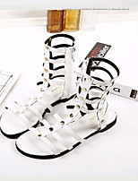 Women's Shoes  Flat Heel Open Toe Sandals Casual Black/White/Gray