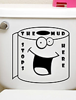 Black Humor Expression Toilet Stickers