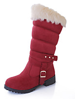 Women's Shoes Low Heel Snow Boots/Round Toe Boots Office & Career/Dress/Casual Black/Blue/Red
