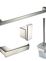 Setdi accessori da bagno/Aste per asciugamano/Porta cartaigienica/Ganci appendiabiti/Portaspazzolone WC Contemporaneo - Montaggio a muro
