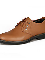 Men's Shoes Outdoor Leatherette Oxfords Brown/Yellow