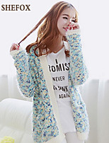 Women's Casual Stretchy Thick Long Sleeve Cardigan (Knitwear) SF7D13