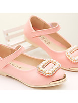 Girls' Shoes Outdoor/Dress/Casual Round Toe/Closed Toe Faux  Flats Black/Pink/Red