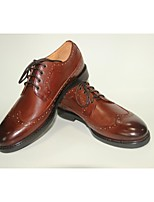 Men's Shoes Wedding/Office & Career/Party & Evening/Casual Leather Oxfords Brown