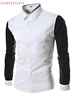 2015 Casual Quality Cotton Fashion Men's Long Sleeve Shirt