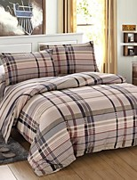 Grid Cotton Bedding Set of 4pcs Queen Size