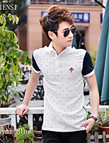 In the summer of 2015 Korean men's casual men's Polo Shirt Polo half sleeve cotton male deer tide