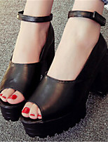 Women's Shoes  Chunky Heel Pointed Toe Sandals Dress Black/White