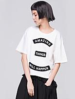 Women's American Apparel Letter Print Half Sleeve Loose T-Shirt