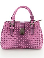 Women's Casual Knitting Color Changing PU Leather Handbags