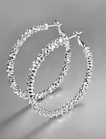 2015 Italy Style Silver Plated Africa Design Hoop Earrings
