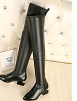 Women's Shoes  Chunky Heel Slouch/Pointed Toe Boots Casual Black