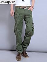AOLONGQISHI® Men's Casual Pure Sweatpants Pants (Canvas/Cotton) 4831