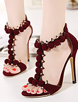 Women's Shoes Fleece Stiletto Heel Open Toe Sandals Dress More Colors available