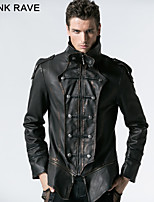 PUNK RAVE Y-401 Men's Casual Pure Long Sleeve Regular Jacket (PU)