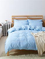 Light Blue Cotton/Polyester King Duvet Cover Sets