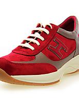 Zapatos de mujer - Tacón Cuña - Comfort / Punta Redonda - Sneakers a la Moda - Exterior - Piel Sintética - Caoba