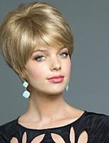 capless haute qualité courte ligne droite mono top remy vierge de cheveux humains perruques 12 couleurs au choix
