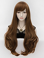 70cm Long Wavy Anime Cosplay Party Women Lady Sexy Harajuku Wig Long Party wigs Brown