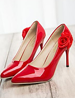 Women's Shoes Faux Leather Stiletto Heel Heels Pumps/Heels Wedding/Party & Evening Black/Red/White