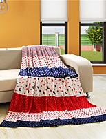 Couverture - 150cmx200cm,180cmx200cm ,200cmx230cm, 250cmx230cm - en Coton / Polyester - Rouge