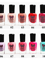 Bgirl Environmental Protection Water-based Tasteless Soak off Nail Polish(8ml,No.1-10)