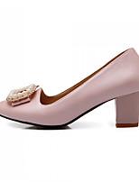 Women's  Chunky Heel Heels Pumps/Heels Office & Career/Casual Pink/Beige