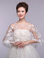 Gorgeous Women's Wedding Wraps Ponchos Sleeveless Beaded Lace Bridal Bolero Shrug