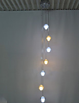 Crystal Bubble LED Pendant Light Chandelier Lighting Fixtures with 7 bulb(4pcs cool white and 3pcs warm white) CE UL