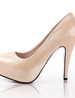 Women's Shoes Stiletto Heel Heels/Closed Toe Pumps/Heels Office & Career/Dress/Casual White/Champagne