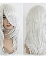 55cm Silvery White Anime Cosplay Costume Wig