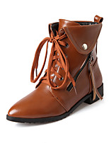 Women's Shoes  Low Heel Combat Boots/Pointed Toe Boots Office & Career/Dress Black/Brown/Red/Beige