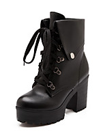 Women's Shoes  Stiletto Heel Combat Boots Boots Office & Career/Casual Black/White