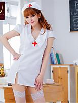 SKLV Women's Cotton Blends Nurse Uniforms Ultra Sexy/Suits Nightwear/Lingerie