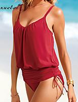 Women's Bikinis , Dot Underwire Bra Nylon/Polyester Green/Red