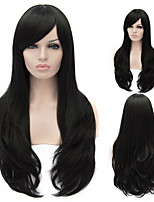 European And American High-Quality High-Temperature Wire Natural Black Hair Wig Fashion Girl Necessary