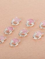 10Pcs/Set Lovely Unique Design Diamond 3D Alloy Nail Art Decoration ZJ0022