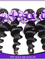 7A Malaysian Virgin Hair Loose Wave 3Pcs Lot Human Hair Extensions Natural Black Hair Weaves Malaysian Loose Wave