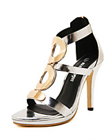 Women's Shoes  Stiletto Heel Heels Sandals Casual Black/Silver