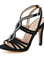 Women's Shoes Stiletto Heel Heels Sandals Casual Black