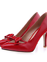 Women's Shoes Leather/Patent Leather Stiletto Heel Heels/Pointed Toe Pumps/Heels Outdoor/Dress/Casual Pink/Red